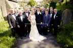 St Illtyd's, Llanrhidian with bride and groom