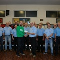 Presentation of cheque to McMillan Representative after concert at Cwmfelin Club.
