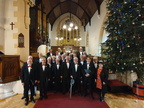 Swansea Male Choir post-concert with soloist Mira.